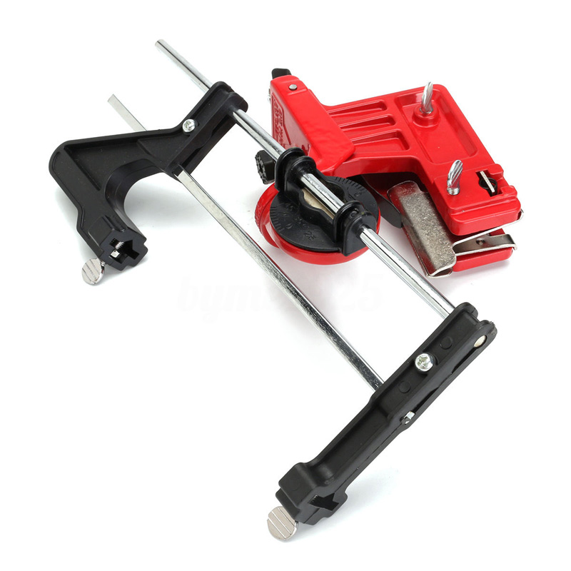 Universal Pro Chainsaw Chain Saw File Guide Sharpener Manual Grinding Guide Garden Tool Part Red 2 Sizes