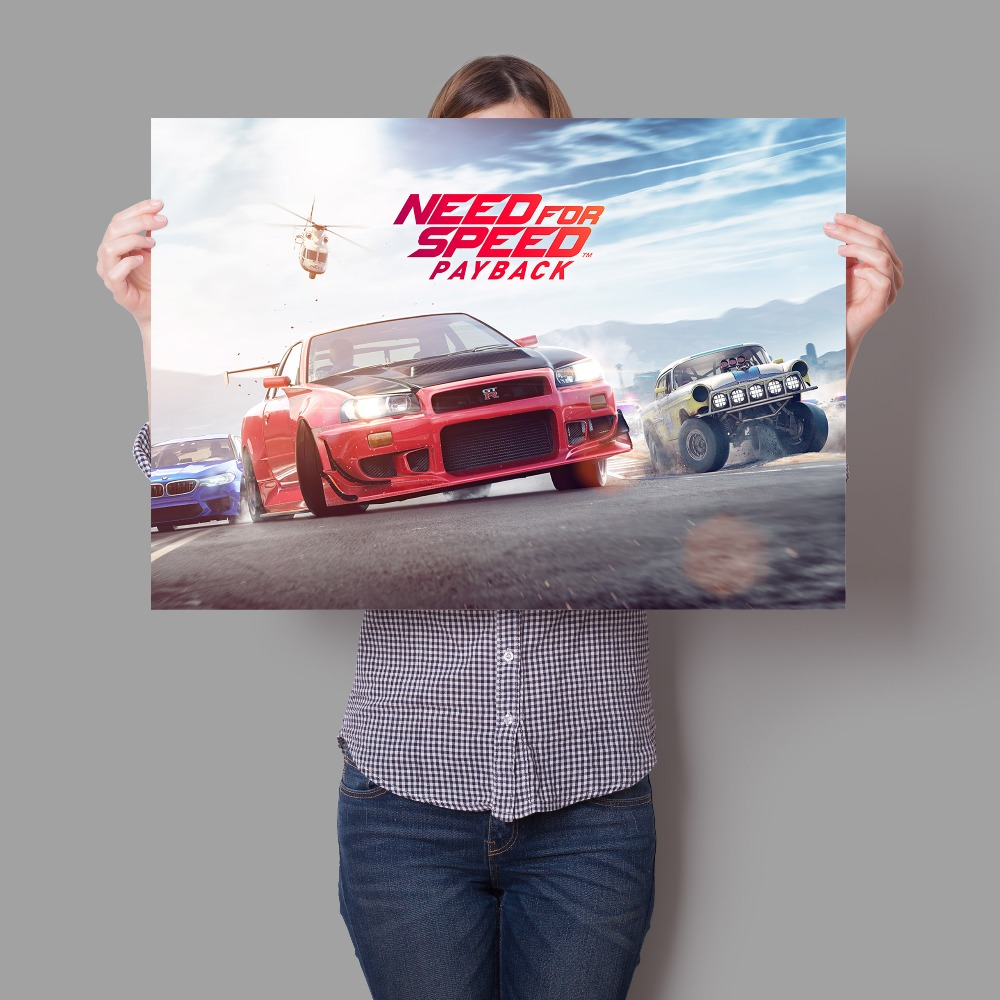 Video Games PS XBOX Need For Speed Wall Sticker the For Kids Room Art Decor Boy Room Wall Decals Poster Mural canvas painting image