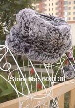 Зима трикотаж мех кролика рекс шляпа мех кролика рекс шарф мех леггинсы