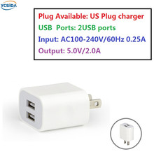 US Plug 5V 2A 2USB Output, phone Travel Charger Adapter Compatible country United States Japan Canada Brazil etc.