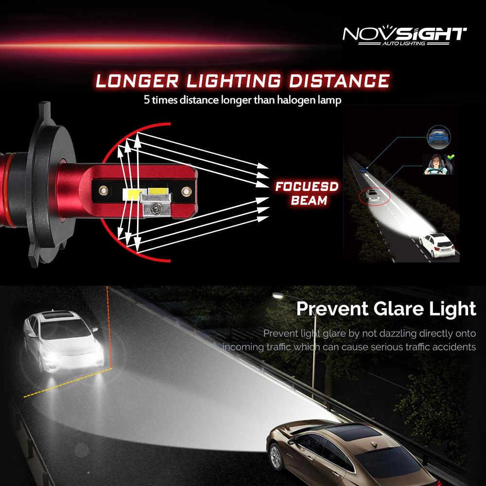 NOVSIGHT Super Bright Car Headlight Automobile Headlamp Auto Led Bulb H1 H3 H4 H7 H8 H11 HB3 9005 HB4 9006 72W 9000LM 6000K