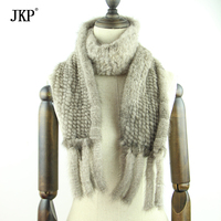 New winter men and women mink fur Scarf with tassels Knitted mink scarf scarves