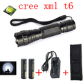 Free Mail WF-501B 1000LM CREE XM-L T6 LED Tactical Flashlight Torch +2 x 18650 Battery + Charger + Flashlight Holster