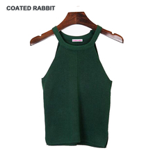 2017 Summer Fashion Women Tanks Knitted Camis Slim High Elastic Halter Neck Sexy Strapless Casual Women Tops Vest