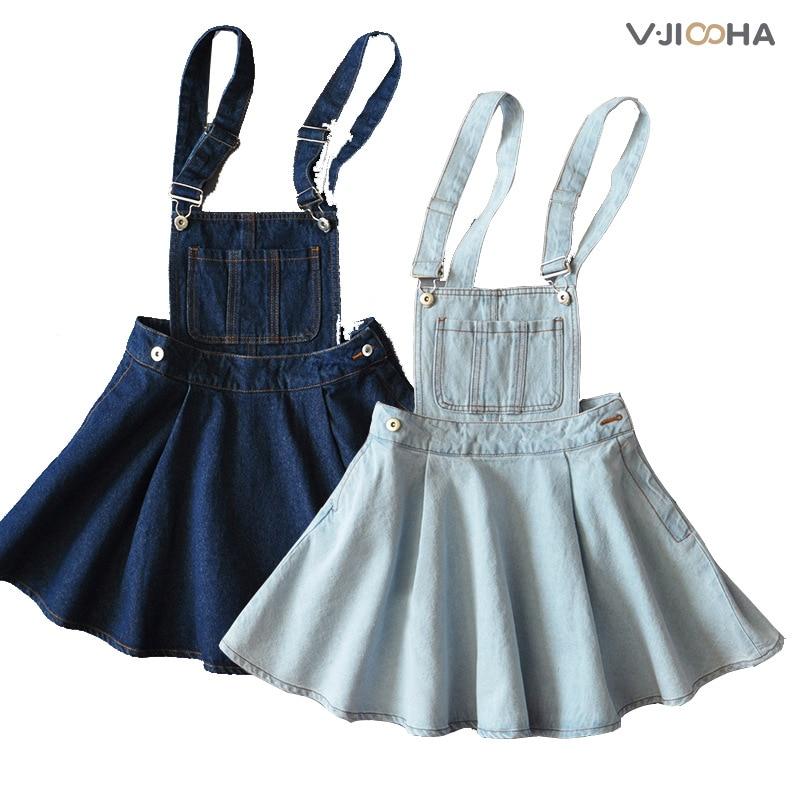 purebliss denim vintage retro overall dress dungaree pinafore tunic dress suspender sundress cowboy braces strap dress