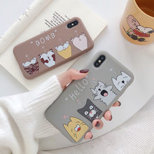 Japan Cartoon cat Phone Case For iPhone X XS Max XR 6 6s Puls 7 8 Puls Kawaii TPU Soft Back Cover For iPhone Coque Fundas Capa(China)