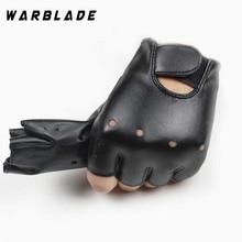 Высококачественные кожаные перчатки для детей, перчатки без пальцев для мальчиков и девочек, детские рукавицы на половину пальцев, дышащие черные перчатки