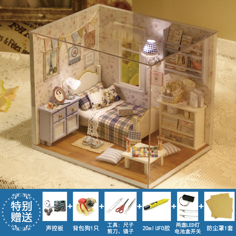 Dream House Furniture Dollhouse Handmade Wooden Doll House DIY Kit  Miniature China Toy Doll Room Box Accessories Sunshine Series In Doll  Houses From Toys ...