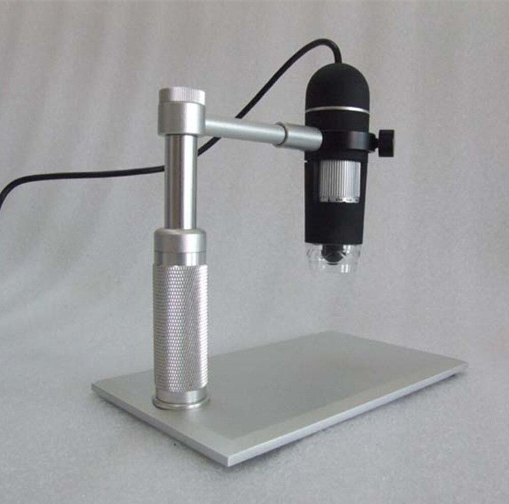 Alluminium Alloy Stand 5MP 1-50/200X USB Digital Microscope Handheld Endoscope