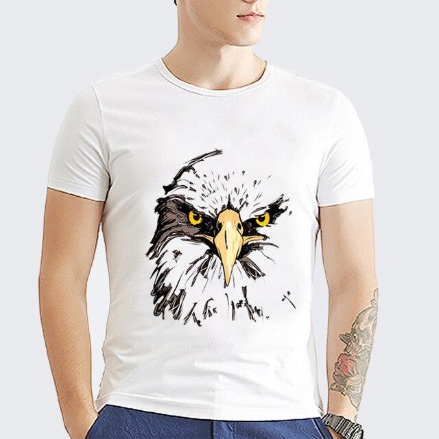 4f93e75c01f4 2017 The most popular hawk head print t-shirt summer casual men s T-shirt  Palace T-shirt Men Trasher male T-shirts