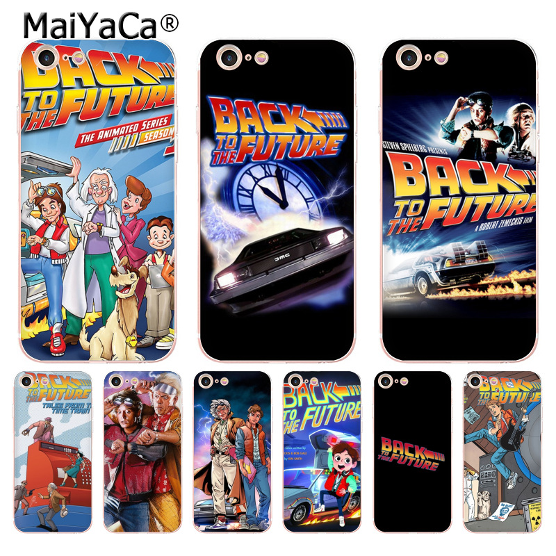 MaiYaCa Back To The Future boy Novelty Fundas Phone Case Cover for iPhone 8 7 6 6S Plus X 5 5S SE 5C case Cover