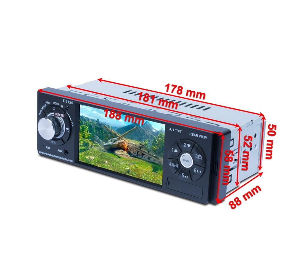 P5120 MP5 4.1 inch TFT LCD HD One Din Bluetooth Media BT music FM Radio Steering wheel remote control car multimedia player 12V