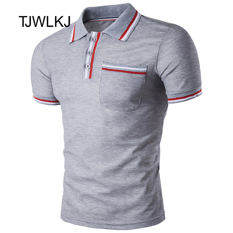 TJWLKJ 2019 Breathable Men's   Polo   Shirt Desiger   Polos   Quick Drying Short Sleeve Shirt Clothes Jerseys   Polo   Shirt