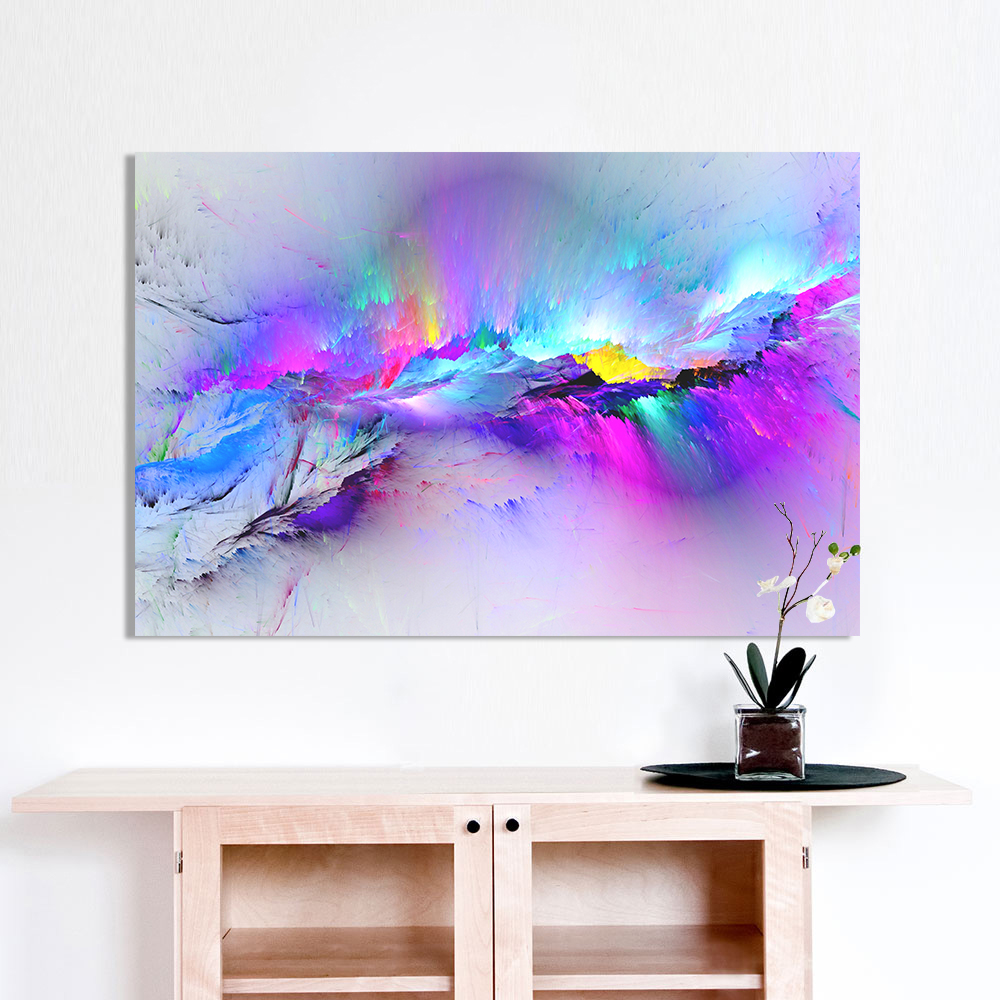 AAGG Wall Art Oil Painting Abstract Cloud Home Decor Landscape Picture For Living Room No Frame
