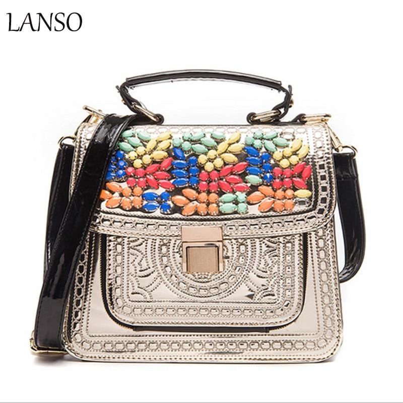 Fashion Women PU Leather Handbag Women Messenger Bags Crossbody Bags High Quality Famous Designer Brand Ladies Bags Retro Flap