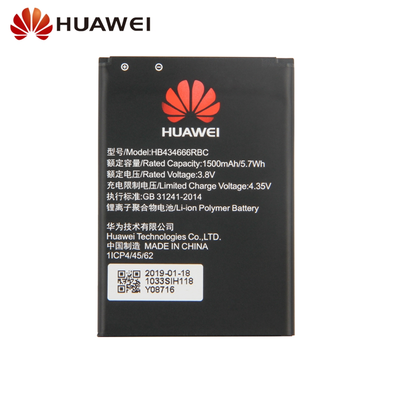 Original Replacement Battery For Huawei E5573 E5573S E5573s 806 E5573s 320 E5573s 606 HB434666RBC Authenic Battery 1500mAh in Mobile Phone Batteries from Cellphones Telecommunications