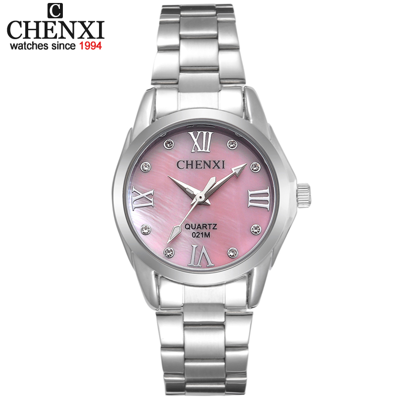 CX-021M Women fashion luxury waterproof watch Stainless Steel High Quality Imitation Shell dial Ladies Girl Rhinestone Watches onlyou brand luxury fashion watches women men quartz watch high quality stainless steel wristwatches ladies dress watch 8892