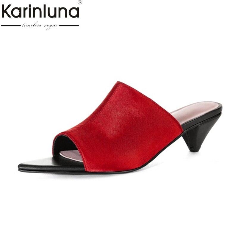 KarinLuna Ins style Plus Size 44 Women Shoes Office Lady Elegant Summer Sandalschic Style Sexy women
