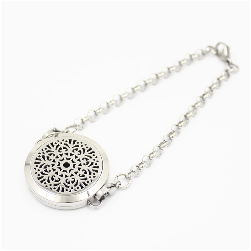 10pcs Aromatherapy Essential Oils Stainless Steel Perfume Diffuser Locket Bracelet Best Father Day Gifts