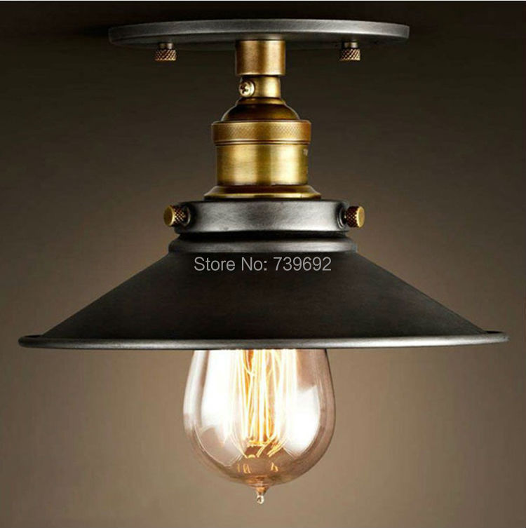 American Countryside Industrial Iron Ceiling Lamp Vintage Style Bar Home Decor Balcony Corridor