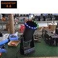 Freeshipping 1200 w led confetti canhão 15*3 w rgb led lâmpadas funfetti mistura de tiro profissional vento do ventilador led confetti lançador de dmx512