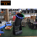Freeshipping 1200W led Confetti Cannon 15*3W RGB LED lamps FUNFETTI SHOT Professional Wind Blower Led Confetti Launcher DMX512