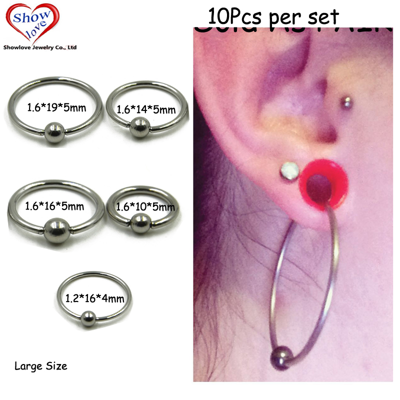 One Lt Blue Imitation Pearl Captive Bead Ring-16g-3//8 inch-10mm-Ear Piercing Hoop Body Jewelry