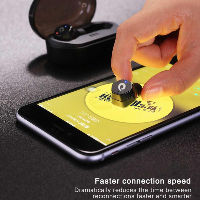 db23e538796 ... Langsdom F8 Bluetooth 5.0 Earphone Mini Sports True Wireless Earbuds  with Mic TWS Earphones with Charging ...