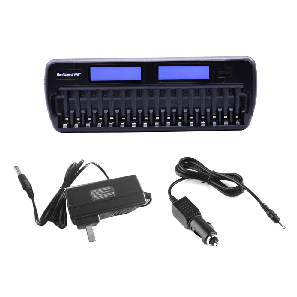 Doublepow DP-K106 16 Slots Battery Charger LCD Intelligent Rapidly Effectively Charger For AA AAA Ni-CD/Ni-MH Battery US EU Plug 5 5 x 2cm lcd multifunctional intelligent digital 4 x aa aaa batteries charger black us plug