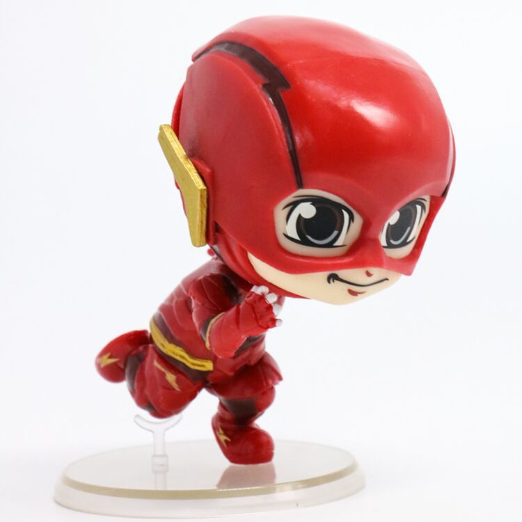 NEW hot 9cm Q version The Flash Justice League Action figure toys collection doll Christmas gift no box