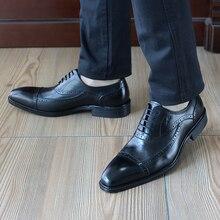 FELIX CHU Fashion Design Mens British font b Oxford b font Dress Shoes Genuine Leather Handmade