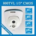 ZOSI HD 960 H CMOS 800TVL Купольная Камера 1 ШТ. Ик светодиодов День/Ночь в Помещении Камеры ВИДЕОНАБЛЮДЕНИЯ 65ft Ночного Видения Главная Безопасность камера