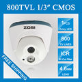 Zosi hd 960 h 800tvl cmos dome camera 1 pcs matriz ir LEDs Dia/Noite Câmera de CCTV Interior pés Night Vision Home Security câmera