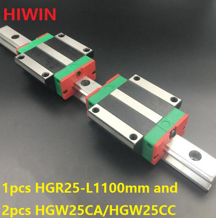 1pcs 100% original Hiwin linear rail HGR25 -L 1100mm + 2pcs HGW25CA HGW25CC flanged carriage for cnc 1pcs 100% original Hiwin linear rail HGR25 -L 1100mm + 2pcs HGW25CA HGW25CC flanged carriage for cnc