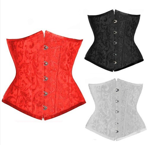 free shipping  Clearance Plus size  5XL 6XL Sexy Waspie Waist Cincher Underbust Corset Bustiers Basque Lace up S-6XL