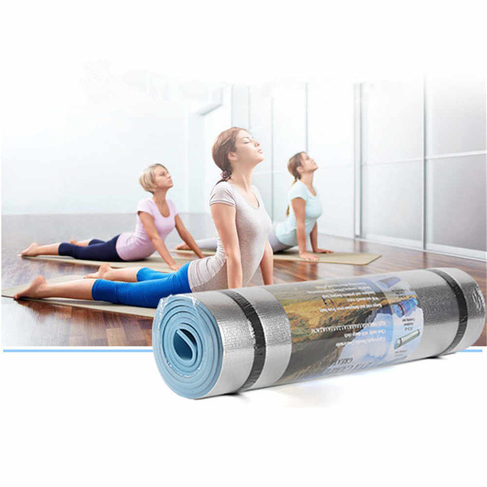Aluminum Film Moisture-proof Yoga Mat Workout Exercise Gym Fitness Pilates Pad