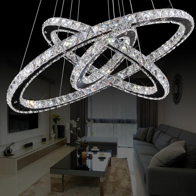 Large Modern Led Crystal Chandelier Light Fixtures D120cm 90cm 60cm