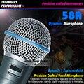 Бесплатная Доставка Качества Beta58A Суперкардиоида Динамический Вокальный Проводной Микрофон Beta 58A 58 Караоке Микрофон Микрофон Com Фио Microfono