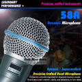 Free Shipping Quality Beta58A Supercardioid Vocal Dynamic Wired Microphone Beta 58A 58 A Karaoke Mic Microfone Com Fio Microfono
