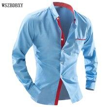 Мужская рубашка 2016 Slim Fit Hemden