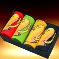4 unids/set Divertido Plátano/Brid Patrón Calzoncillos de Dibujos Animados Impreso Pantalones Sexy U Convex Trunk Shorts Más El Tamaño Plana L-XXXL