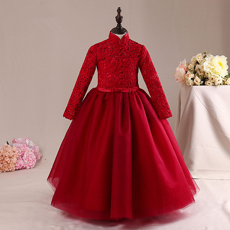 8398eee0b73 High Quality Red Long Flower Girl Dress Simple Vestido Girls Of 3 4 6 8 10  12 14 Years Old Christmas Kids Clothes RKF185001 - aliexpress.com -  imall.com