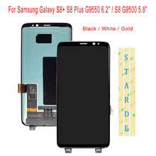 цена на STARDE Replacement LCD For Samsung Galaxy S8+ S8 Plus G9550 6.2 / S8 G9500 5.8 LCD Display Touch Screen Digitizer Assembly