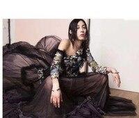2018 модное платье женские пикантные винтажные vestidos Элегантный vestido de festa Вадим Вышивка платья для женщин осенняя одежда
