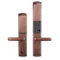 Интеллектуальные замки отпечатков пальцев смарт замки для основной деревянная дверь