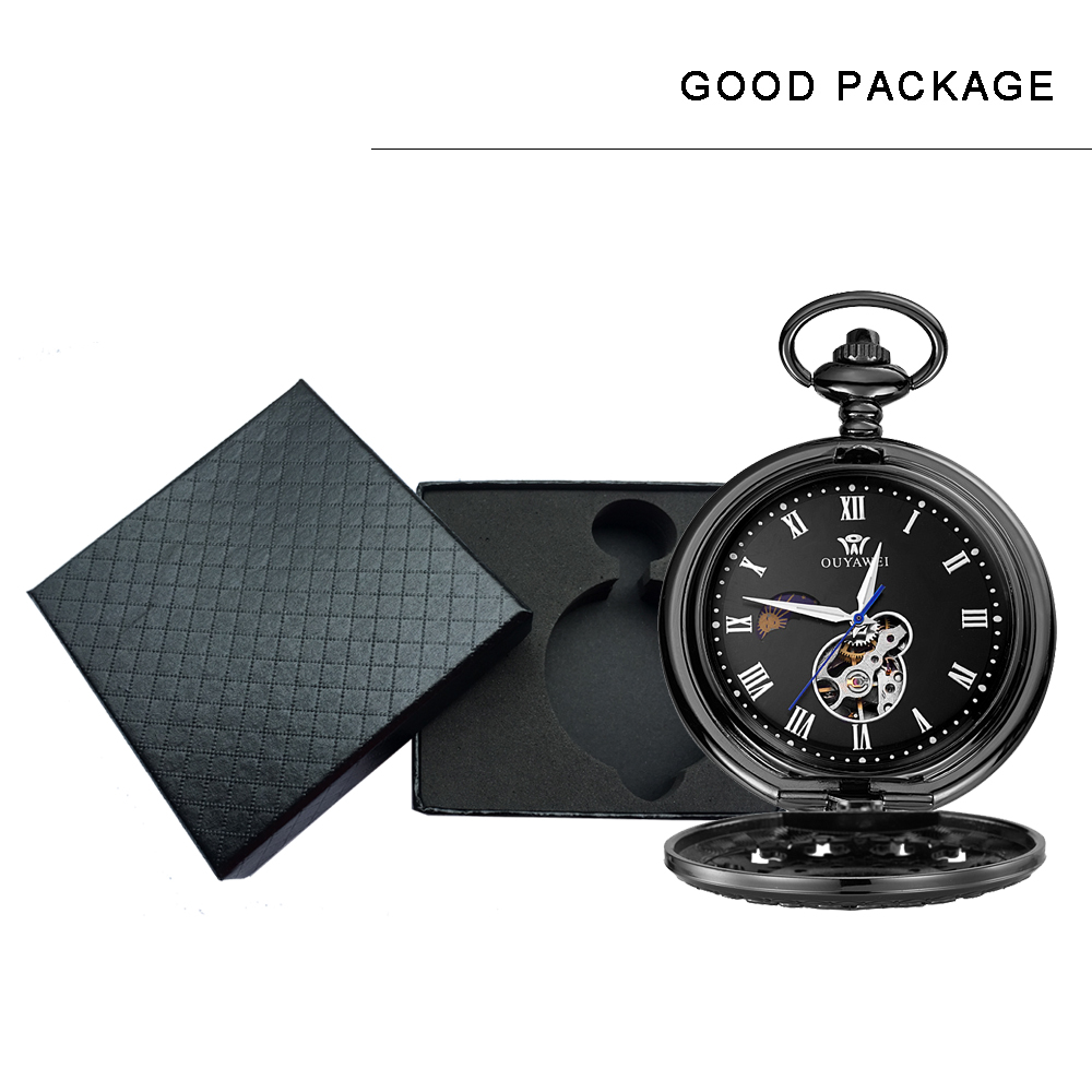 mechanical pocket watch men with gift box