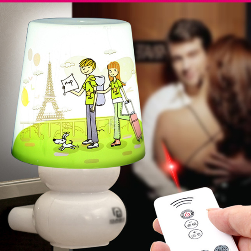 Novelty LED Night Light Remote control dimmer Baby Bedroom Lamp Timing switch Indoor Lighting Wall Romantic Birthday gift