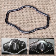 DWCX New Carbon Fiber Interior Headlight Button Decorative Trim Cover For Audi A4 A5 Q5 2007 – 2010 2011 2012 2013 2014 2015