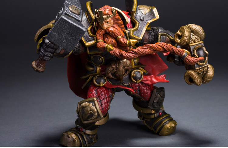 Wow DC Action Figure Unlimited Series 6 6 inch Magni Bronzebeard [Dwarven King] WOW PVC Model Figure Free Shipping GS005