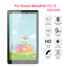купить 2pcs 9H Tempered Glass For Huawei Mediapad T3 7.0 WIFI 7'' Transparent Screen Protector Film Hard Cover For Huawei T3 7 BG2-W09 дешево